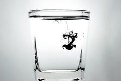 Inkt in het water Royalty-vrije Stock Afbeelding