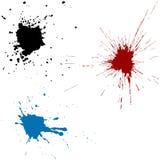 Inkt Splats royalty-vrije illustratie