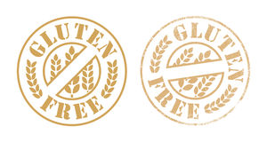 Inkt van de gluten de vrije rubberzegel Royalty-vrije Stock Afbeelding