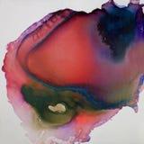 Inkt, verf, samenvatting Close-up van het schilderen royalty-vrije illustratie
