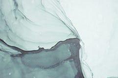Inkt, verf, samenvatting Close-up van het schilderen Kleurrijke abstracte het schilderen achtergrond Hoogst-geweven olieverf Hoog royalty-vrije stock foto