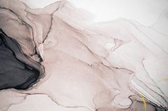 Inkt, verf, samenvatting Close-up van het schilderen Kleurrijke abstracte het schilderen achtergrond Hoogst-geweven olieverf Hoog royalty-vrije stock afbeelding