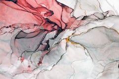 Inkt, verf, samenvatting Close-up van het schilderen Kleurrijke abstracte het schilderen achtergrond Hoogst-geweven olieverf Hoog royalty-vrije stock foto's