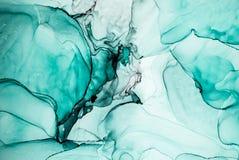 Inkt, verf, samenvatting Kleurrijke abstracte het schilderen achtergrond Hoogst-geweven olieverf Hoog - kwaliteit detaInk, verf,  stock illustratie