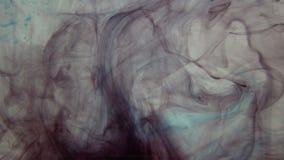 Inkt in water, abstracte achtergrond stock videobeelden