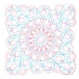 Inkthand getrokken ornament Naadloos patroon vector illustratie
