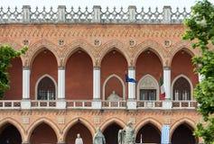 Inkvartera Amulea i den stora piazza av den Prato dellaen Valle också som är bekant som Ca-` Duodo Palazzo Zacco i Padua, Arkivfoto