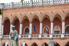 Inkvartera Amulea i den stora piazza av den Prato dellaen Valle också som är bekant som Ca-` Duodo Palazzo Zacco i Padua Arkivbild