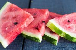 Inkvartera saftiga söta skivor av vattenmelon, friskhet Fotografering för Bildbyråer