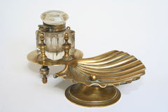 Inkwell. Antique inkwell Royalty Free Stock Photography
