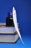 Inkwell e spoletta fotografie stock