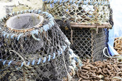 Inkwell lobster and crab pots Royalty Free Stock Photos