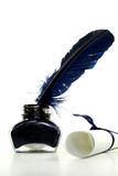 Inkwell with pen Royalty Free Stock Image
