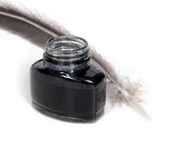 Inkwell and quill Royalty Free Stock Image