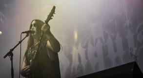 Inkwizycja metalu czarny zespół żywy w koncercie 2016 Fotografia Royalty Free
