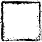 Inky border 1. An abstract pen and ink border with ink splats Royalty Free Stock Photo