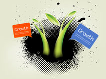 Inky dribble strip and small plant Stock Photography