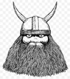Happy Viking Ink Sketch Illustration royalty free illustration