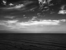 Inky sky. Dark oceanfront sky line Stock Photography