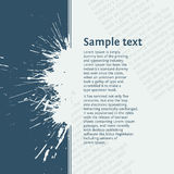 Inky splash with space for your text Royalty Free Stock Photography