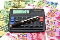 Inländisch gegen Auslandsinvestitionen für 2011 Stockfoto