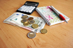 Inländische Buchhaltung Stockfotos