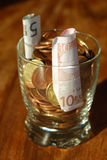 Inländische Wirtschaftlichkeit. Zu Hause sichern Stockfotografie