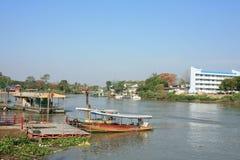 Inländischer Fährekanal im Chao phraya Fluss Lizenzfreies Stockfoto