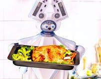 Inländischer Unterstützungskoch des Roboters an der Küche Stockfotografie