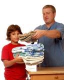 Inländisches Wäscherei-Team Lizenzfreie Stockfotos