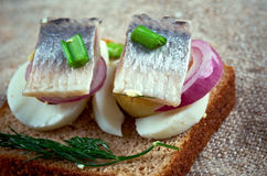 Inlagd sill. Delicacy in Europe, and has become a part of Baltic, Nordic, Dutch, German Royalty Free Stock Photos