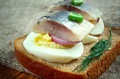 Inlagd sill. Delicacy in Europe, and has become a part of Baltic, Nordic, Dutch, German Royalty Free Stock Image