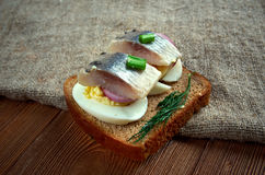 Inlagd sill. Delicacy in Europe, and has become a part of Baltic, Nordic, Dutch, German Stock Image