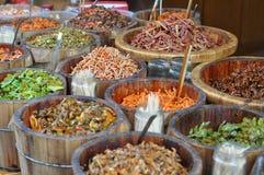 Inlagda grönsaker för kines Arkivbild