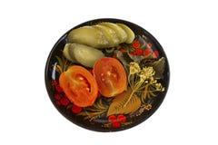 På burka grönsaker Arkivfoto