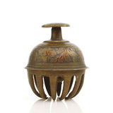 Inlaid Antique Bell from India Stock Image