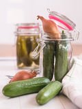 Inlaid cucumbers Royalty Free Stock Photography