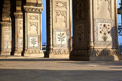 Inlaid marble, columns and arches, Royalty Free Stock Photo
