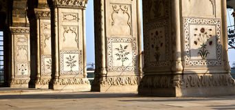 Inlaid marble, columns and arches, Stock Photo
