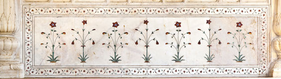 Inlaid marble, columns and arches, Red Fort, Delhi Royalty Free Stock Photos