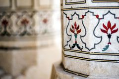 Inlaid marble detail Stock Images