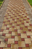 Inlaid stone paving stones Stock Photo