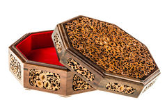 Inlaid wooden box Royalty Free Stock Images
