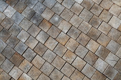 Inlaid wooden tiles as the background, conceptual in nature Royalty Free Stock Photo