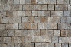 Inlaid wooden tiles as the background, conceptual in nature Stock Photo