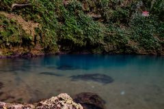 The inland Blue Hole of Belize stock photography