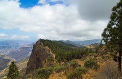 Inland Central Gran Canaria, Caldera de Tejeda Stock Photography
