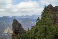 Inland Central Gran Canaria, Caldera de Tejeda Stock Image