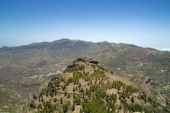 Inland Central Gran Canaria, view north  from Roque Nublo Stock Photo