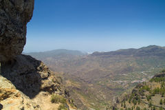 Inland Central Gran Canaria, view north  from Roque Nublo Royalty Free Stock Photography